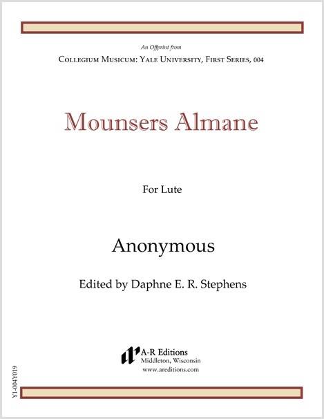 Anonymous: Mounsers Almane
