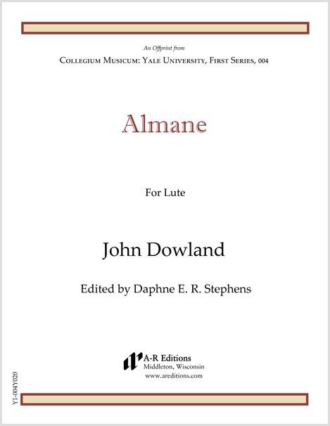 Dowland: Almane