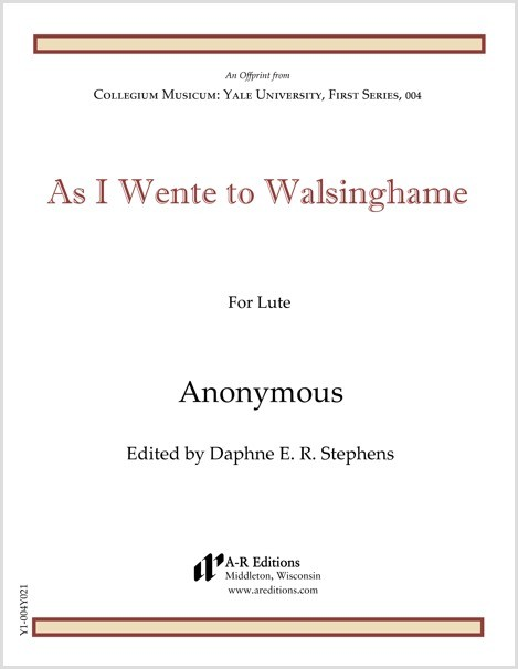 Anonymous: As I Wente to Walsinghame