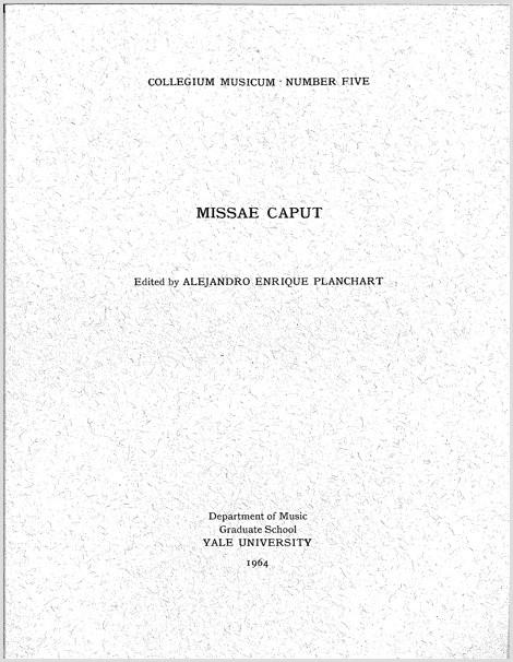 Missae Caput