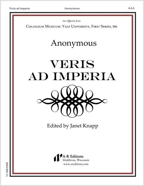 Anonymous: Veris ad imperia