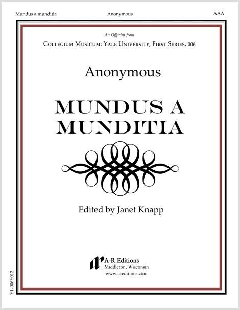 Anonymous: Mundus a munditia