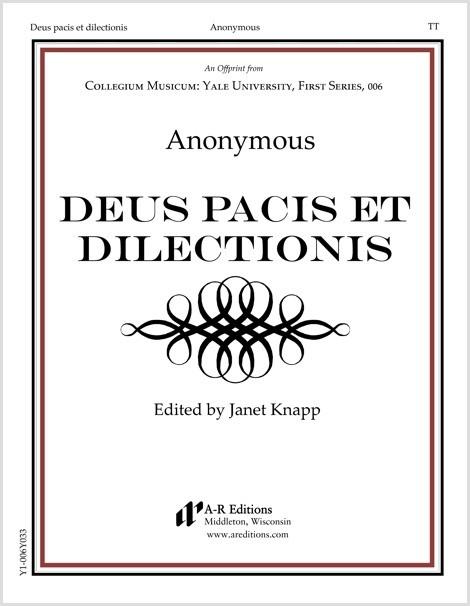 Anonymous: Deus pacis et dilectionis