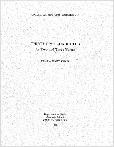 Thirty-five Conductus for Two and Three Voices