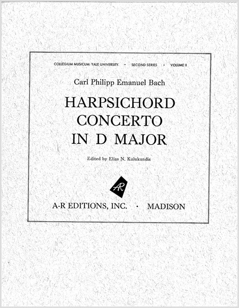 Bach, C.P.E.: Harpsichord Concerto in D Major, W. 27