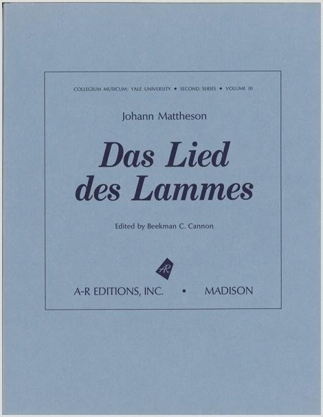 Mattheson: Das Lied des Lammes