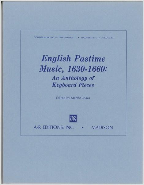 English Pastime Music, 1630–1660