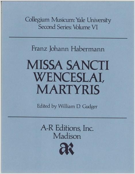 Habermann: Missa Sancti Wenceslai, Martyris