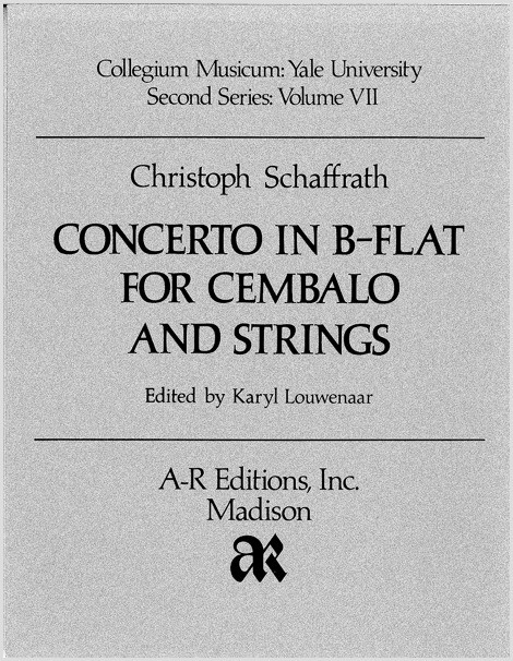 Schaffrath: Concerto in B-flat for Cembalo and Strings