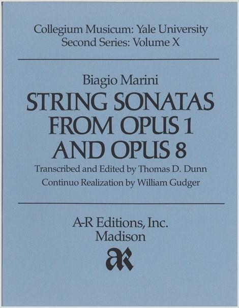 Marini: String Sonatas from Opp. 1 and 8