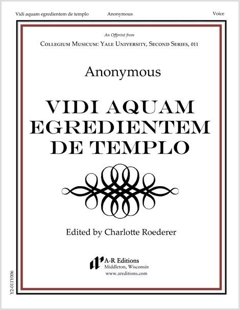 Anonymous: Vidi aquam egredientem de templo