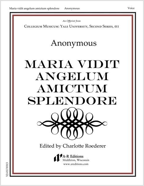 Anonymous: Maria vidit angelum amictum splendore