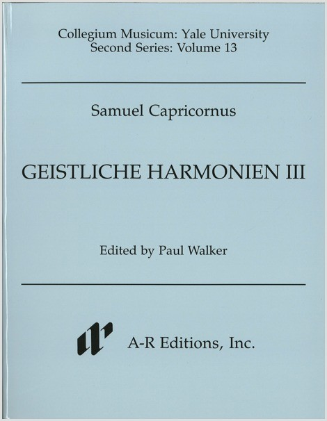 Capricornus: Geistliche Harmonien III