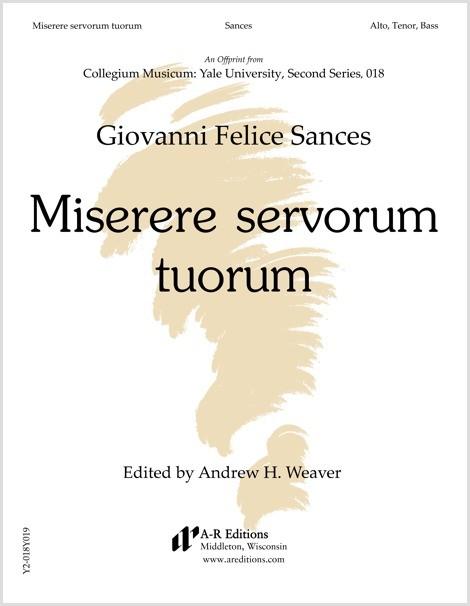 Sances: Miserere servorum tuorum