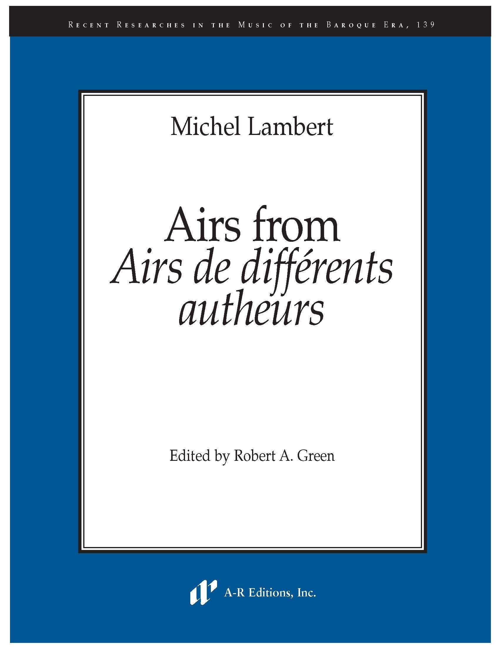 Lambert: Airs from Airs de différents autheurs