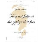 Hewitt: Thou art false as the zephyr that flies